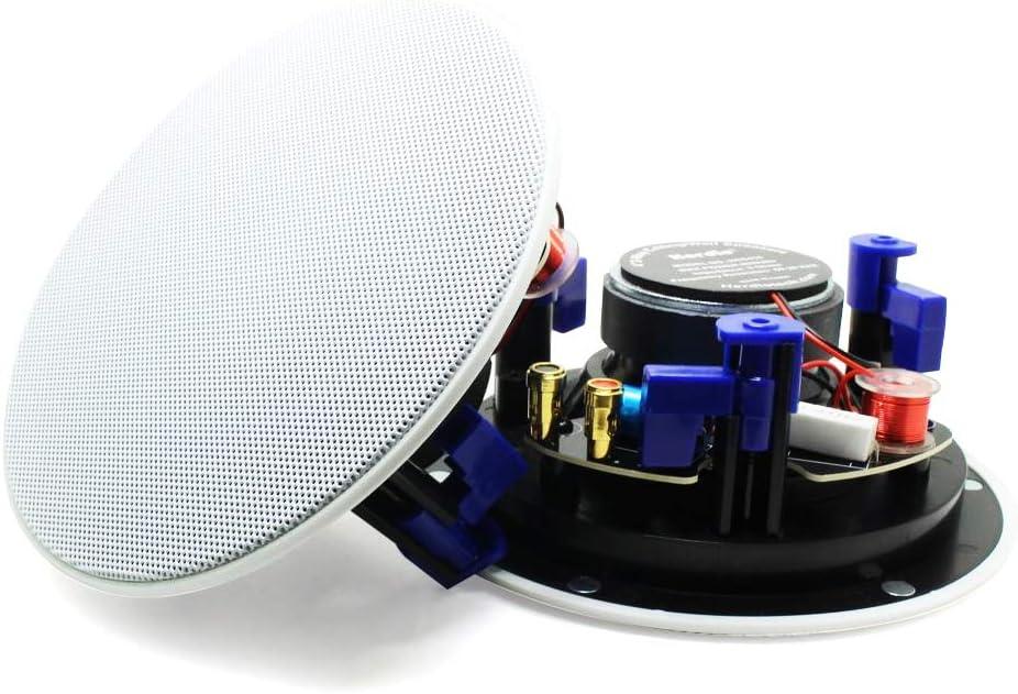 Herdio Altavoz de Techo Bluetooth de 4 Pulgadas Altavoces montados en la Pared Amplificador Altavoces de Techo Resistentes al Agua para baño Hogar Cocina
