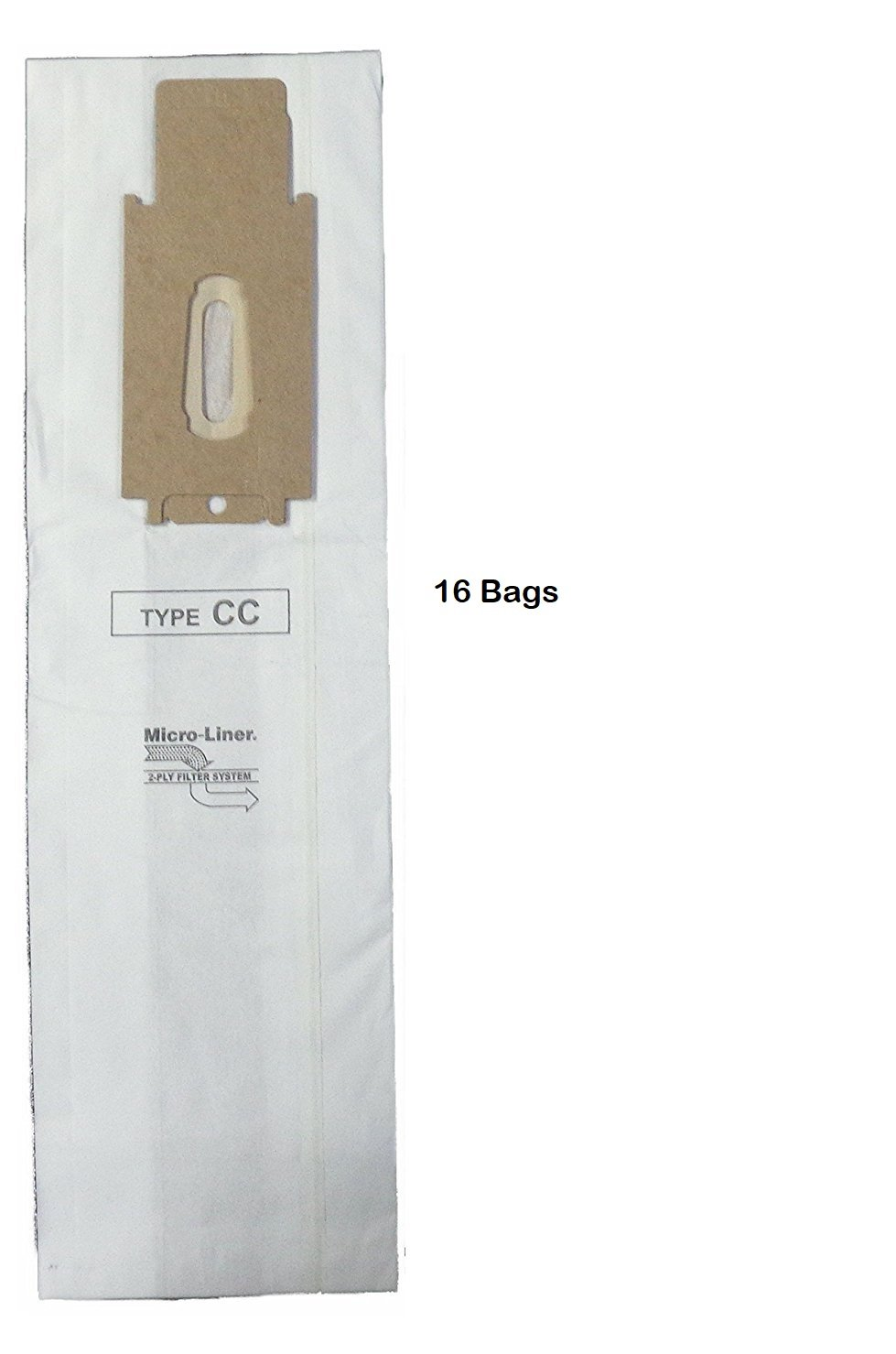 Oreck XL & CC Microlined Filtration Bags by Home Care Products, 16 bags - CCPK80H, CCPK80F, CCPK8DW, PK80009, PK80009DW, CCPK8 with Bag Dock