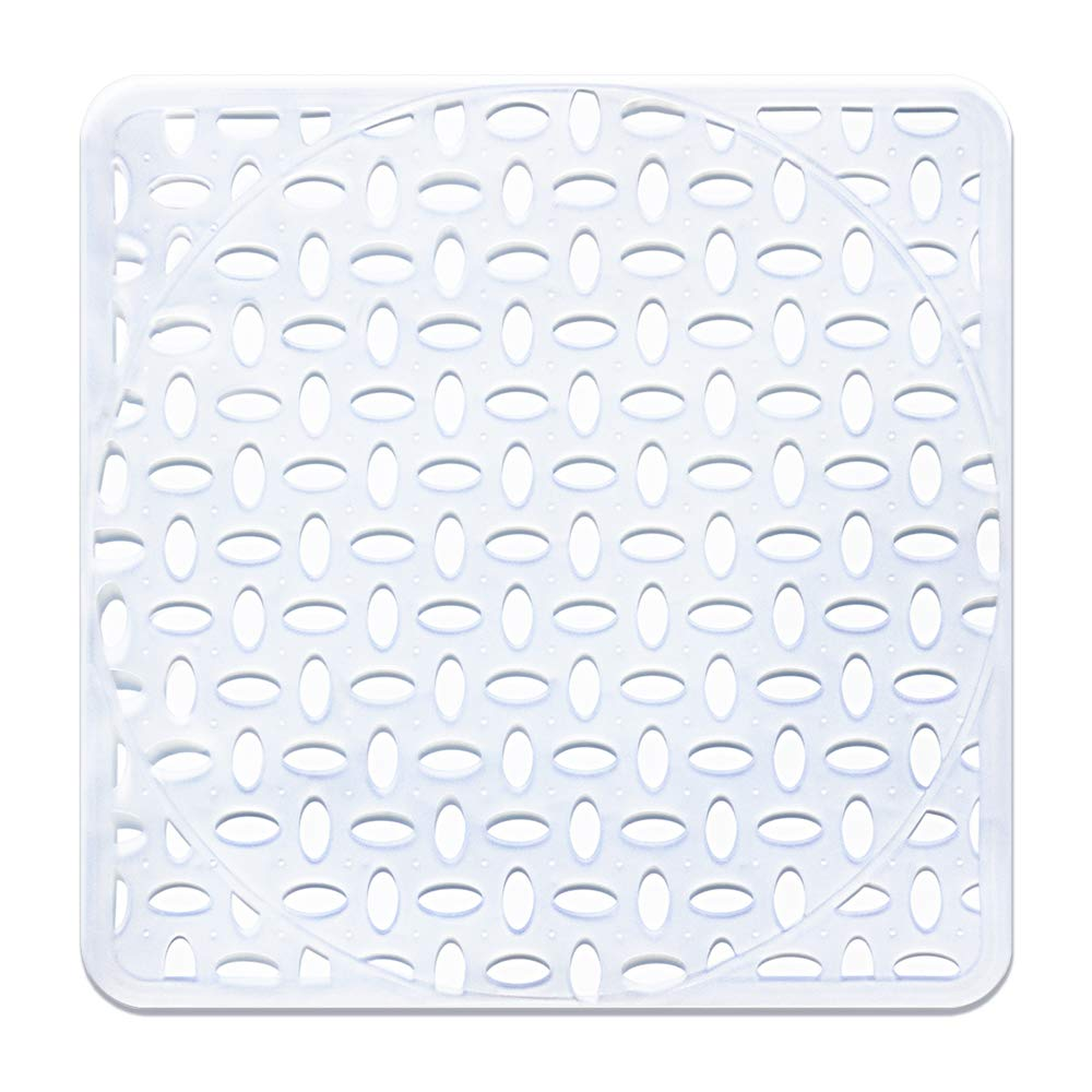 Sink Mat, BliGli Eco-friendly Kitchen Sink Protector, Made of Durable PVC Plastic, Good Protection for Stainless Steel sink, Dinnerware, Square,11.8 x 11.8In, Frosted Clear (2Pack) SM-3030-Clear-2