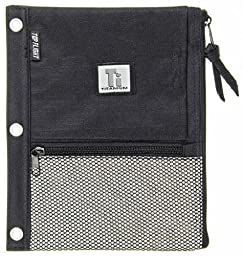 Top Flight Titanium Zipper Pencil Pouch with 4 Pockets, 8.125 x 9.75 Inches, 1 Pouch, Color May Vary (43049)