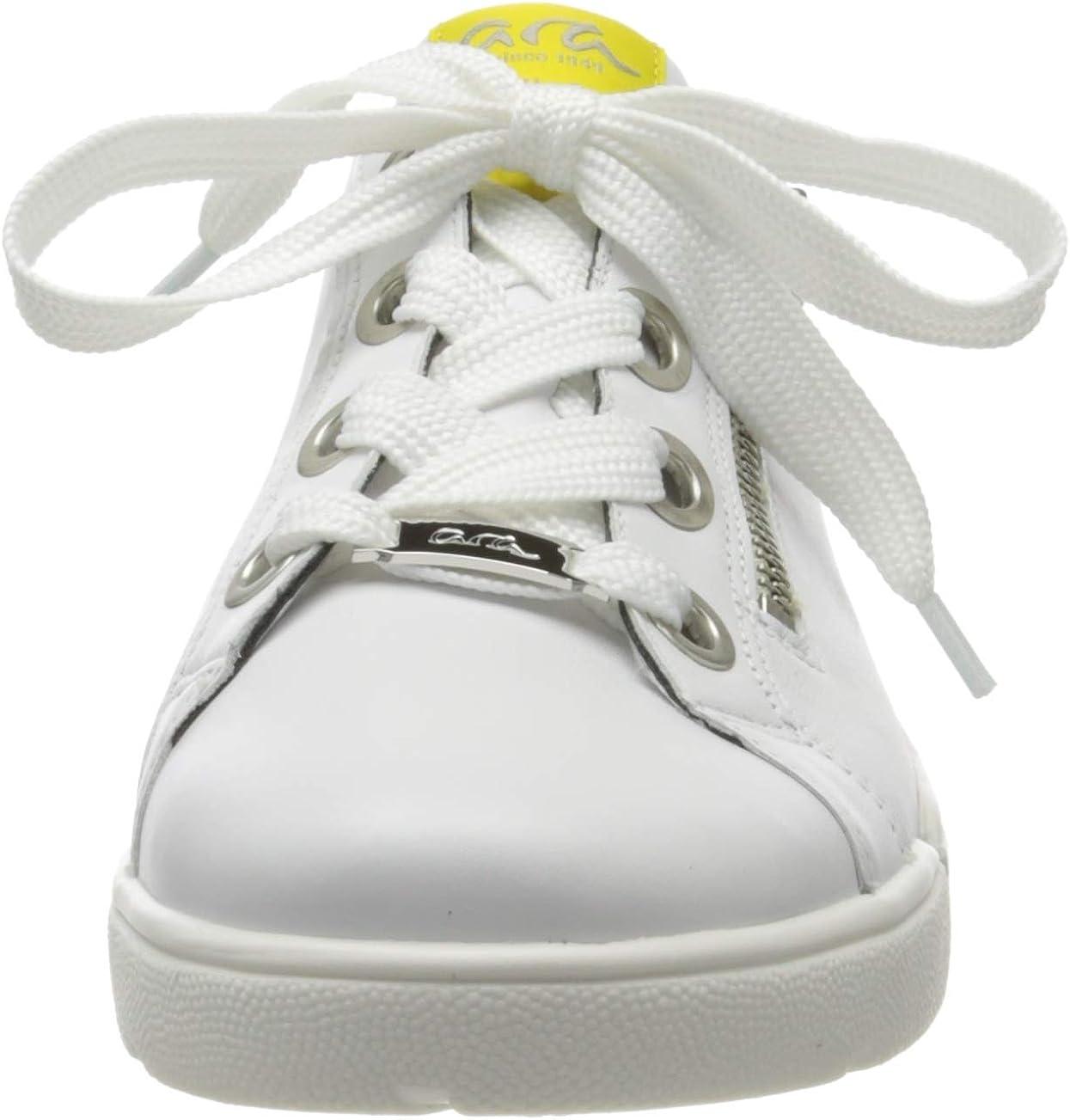 ARA Damen Rom Sneaker Weiß Weiss Yellow 06