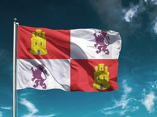 F/ácil colocaci/ón 1 Unidad Wayshop Bandera C/ádiz Medidas 150cm x 85cm Bandera Ciudades Decoraci/ón Exteriores