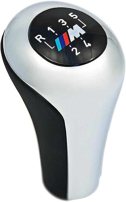 Cosmoparts Pomo Compatible con BMW Palanca Cambios 6 Velocidades M E36 E46 Cromado