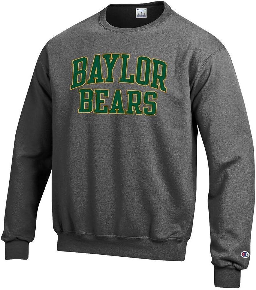 Elite Fan Shop NCAA Mens Front//Back Dark Heather Crew Sweatshirt
