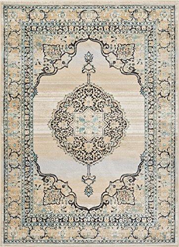 Well Woven Mughal Blue Medallion Modern 5x7 (5'3