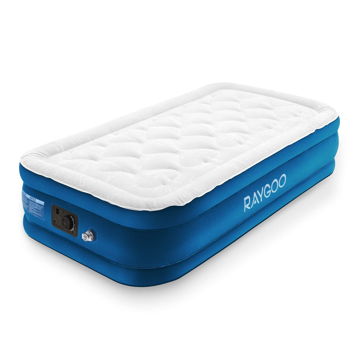 Air Mattress Queen Size Airbed Luxury Raised Inflatable Mattress with Built-in Electric Pump, Elevated Raised Air Mattress Quilt Top, Height 20'', 3-Year Warranty