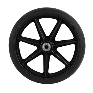 8 inch by 1 inch Black Replacement Wheel for Wheelchairs, Rollators,  Walking Frames and More, 8