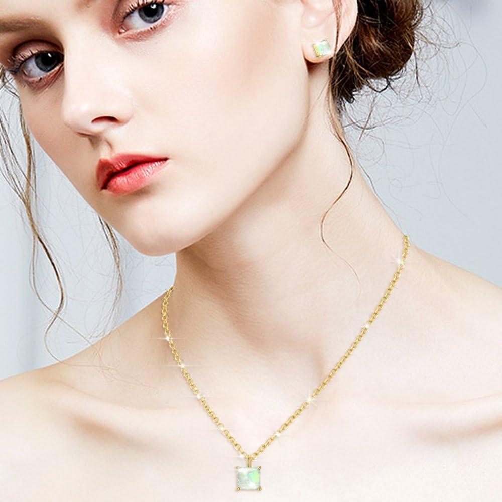 bague bracelet boucles doreilles Parure de bijoux pour femme en argent 925 avec collier etc. pendentif