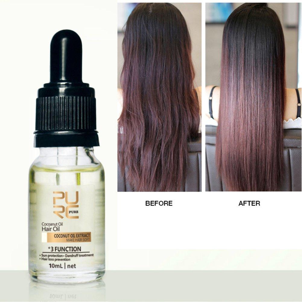 KAYI Kokosöl Haaröl Haar Stärkung Serum Anti-Haarausfall Grundlegende Essenz Geschädigtes Haar Glättung Behandlung