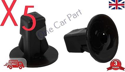 5 x Tornillo de montaje de tornillo GROMMET, tuerca de bloqueo de rueda, arco