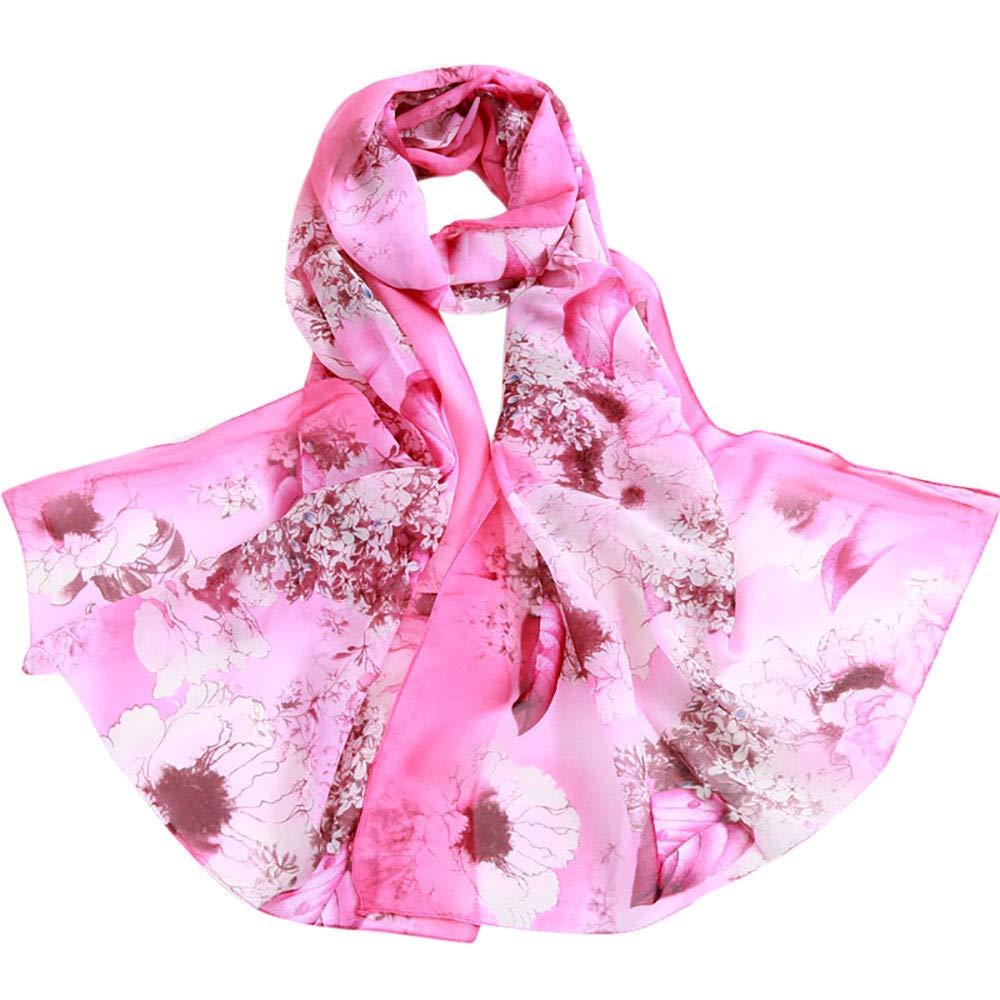 19c9c0c27b6 AIMEE7 Femmes Mode Écharpe à Imprimé Fleur de Pivoine Pas cher Élégant  Châle Foulard Longue Automne Hiver(Rose Vif)  Amazon.fr  Fournitures de  bureau