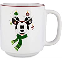 "Disney Parks Mickey Mouse Holiday Mug -""Merry & Bright"""