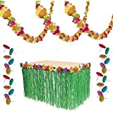 Luau Party Decorations - Lei Garland, Grass Table Skirt, 144 Paper Cocktail Umbrellas