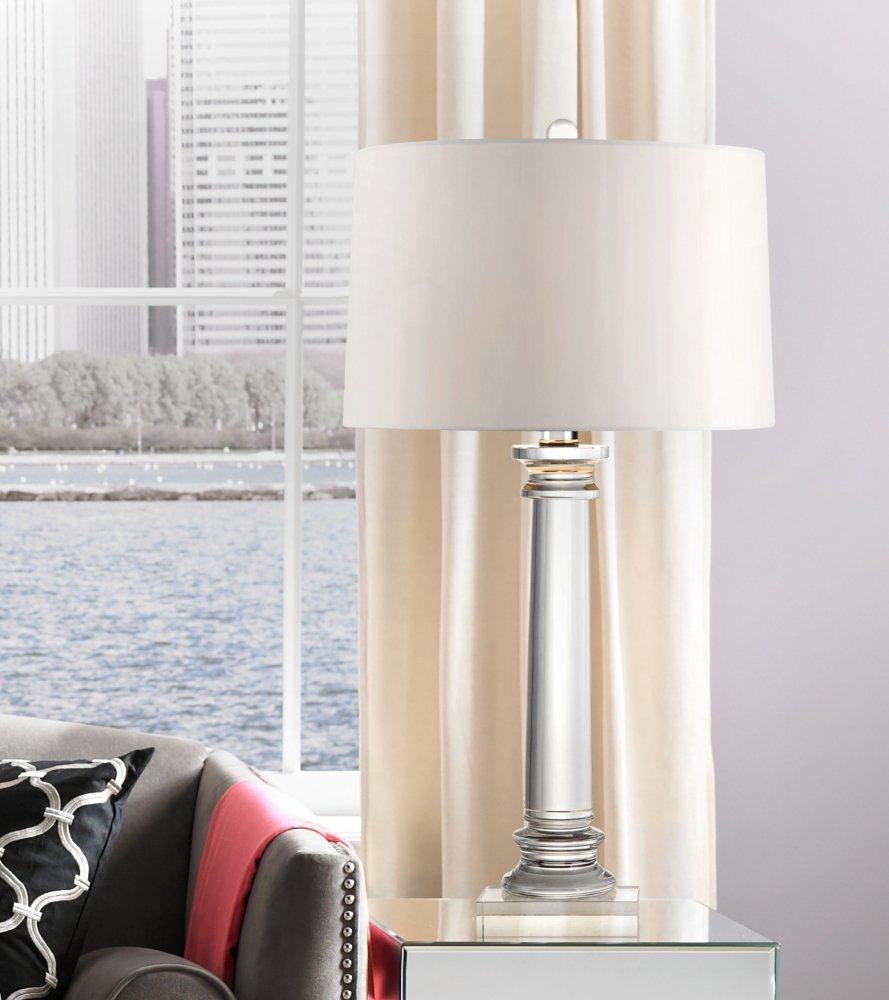 Vienna Full Spectrum Modern Crystal Column Table Lamp - - Amazon.com