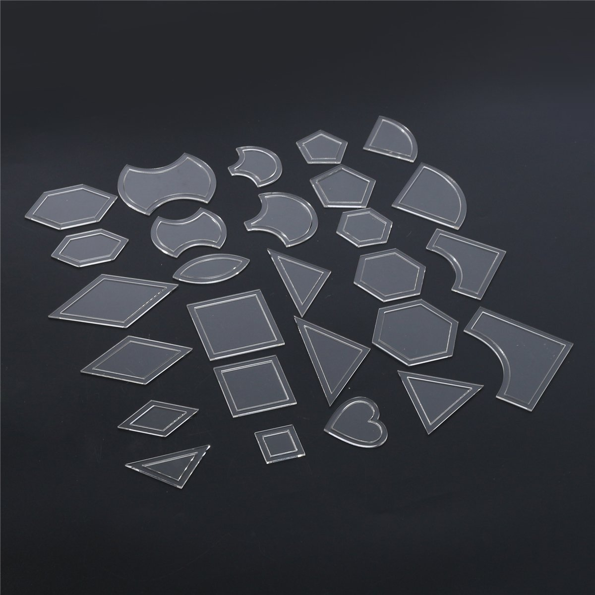 Delaman Quilting Supplies Plastic Stencil Quilting Template DIY Patch Work Sewing Crafts Tool