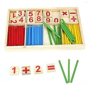 Amazon.com: SMTSMT Kids Child Wooden Numbers Mathematics Learning ...