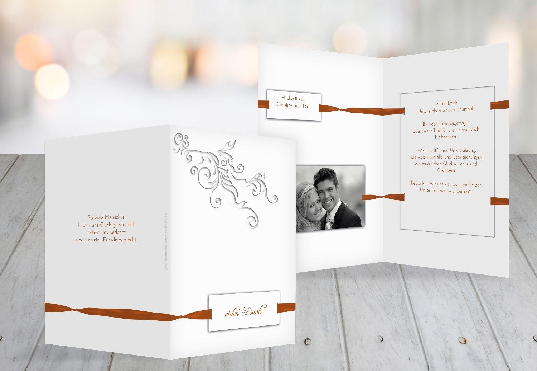 Kartenparadies Danksagung für Hochzeitsgeschenke Hochzeit Dankeskarte loop label, hochwertige Danksagungskarte Hochzeitsglückwünsche inklusive Umschläge   10 Karten - (Format  105x148 mm) Farbe  DunkelGelb B01N7UR2U2   Ausgang    New