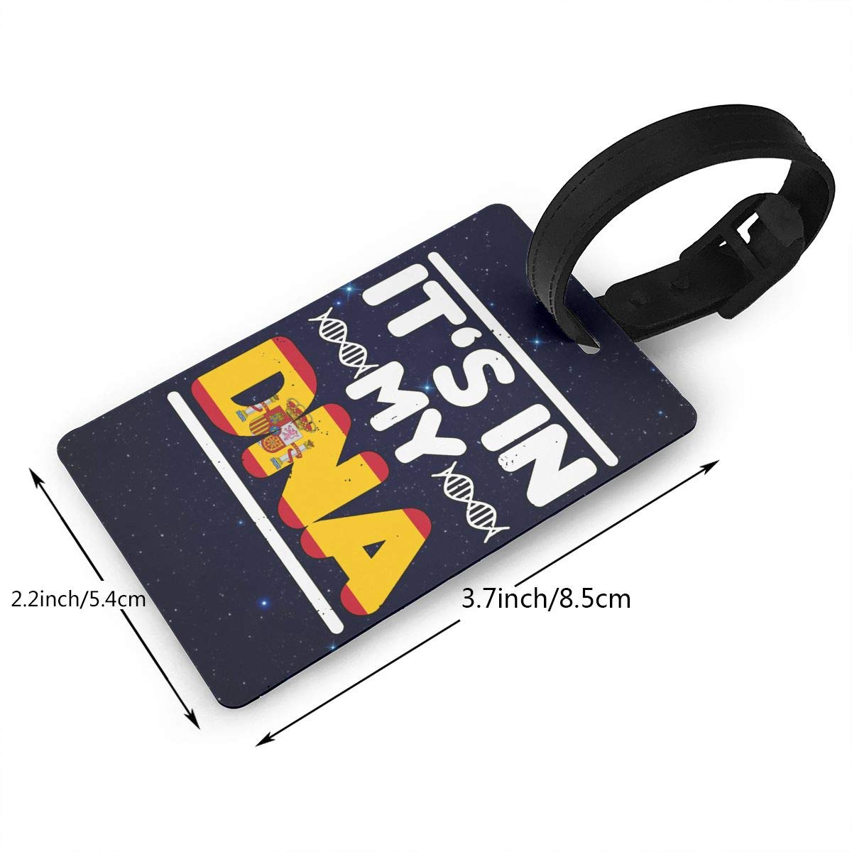 Spain Flag Its In My DNA Luggage Tag Travel ID Bag Tag For Mens Womens Baby Strollers