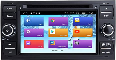 ZLTOOPAI Android 9.0 para Ford Focus Mondeo S-MAX C-MAX Galaxy Radio para Auto Estéreo Navegación GPS Reproductor Multimedia (Negro): Amazon.es: Electrónica