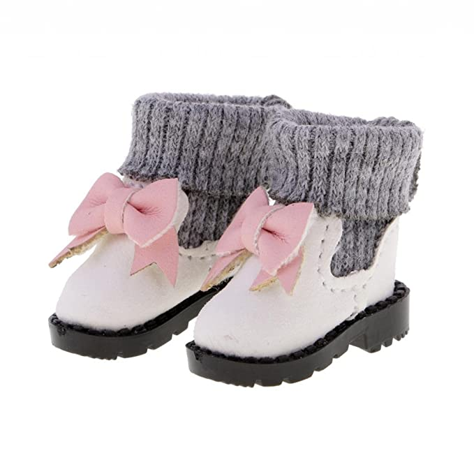 Amazon.com: Jili Online 4 Pairs 1/6 Hi-top Bowknot Boots for Blythe Azone Pullip Doll Accessories: Toys & Games