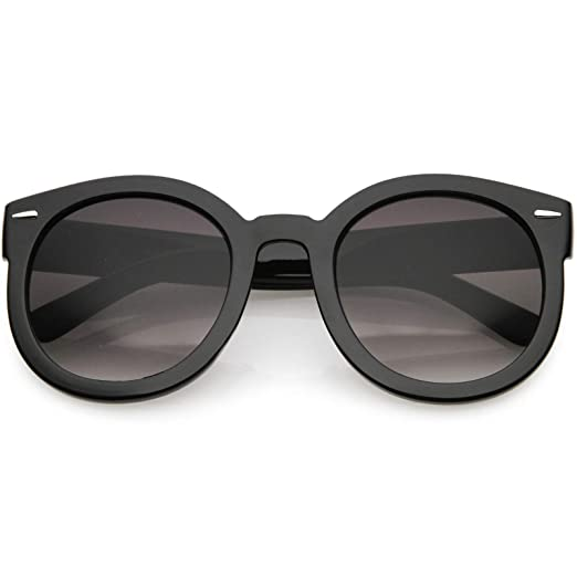 5dd09decef2 zeroUV - Round Retro Oversized Sunglasses for Women with Colored Mirror and  Neutral Lens 53mm (
