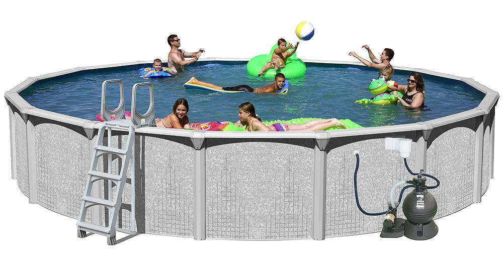 Amazon.com: Splash Pools Above Ground Round Pool Package, 24-Feet by ...