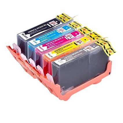 PerfectPrint - 5 cartuchos de Tinta para Impresoras compatibles ...