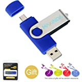 8GB/16GB/32GB/64GB OTG Telefono mobile /Tablet PC Trasformazioni duale Micro USB / USB 2.0 Memoria Unità flash In movimento Disco USB+1M 2.0 cavo USB (16GB)