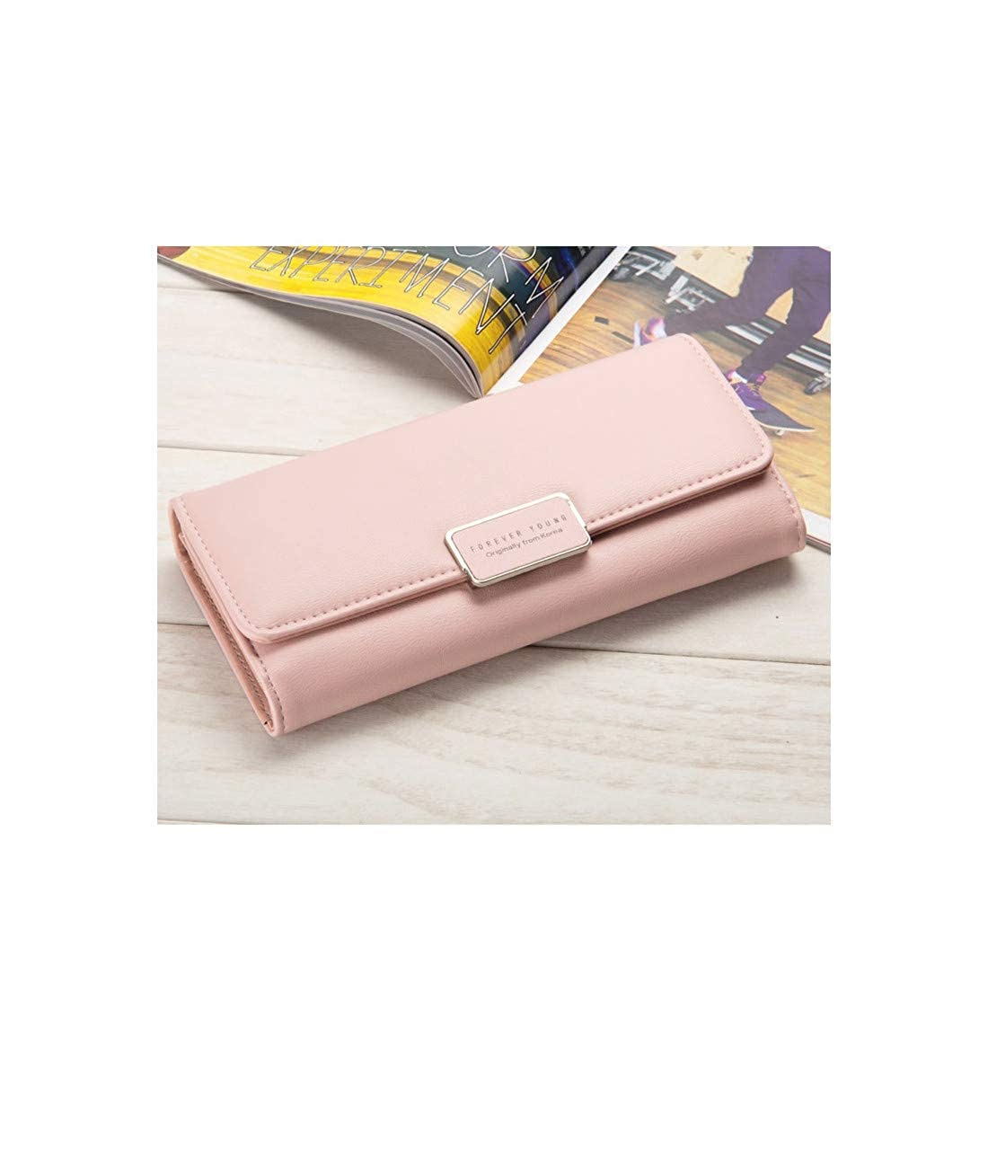 K.X.S New Style Womens Clutch Quality Graceful Sweety Solid Color Ladylike Stylish Bag