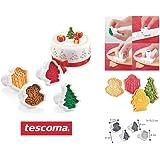 Tescoma  Delicia tagliabiscotti con timbro di Natale, assortiti,  pezzi