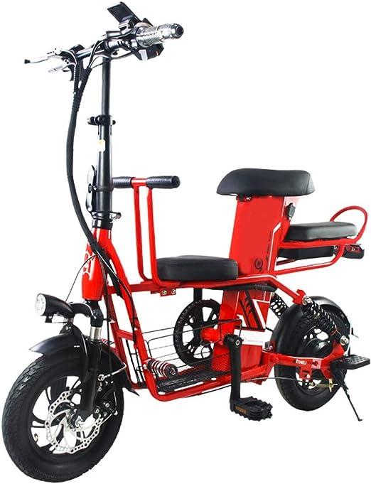 JH Bicicleta eléctrica, 400W 8Ah eléctrica Plegable con la batería ...