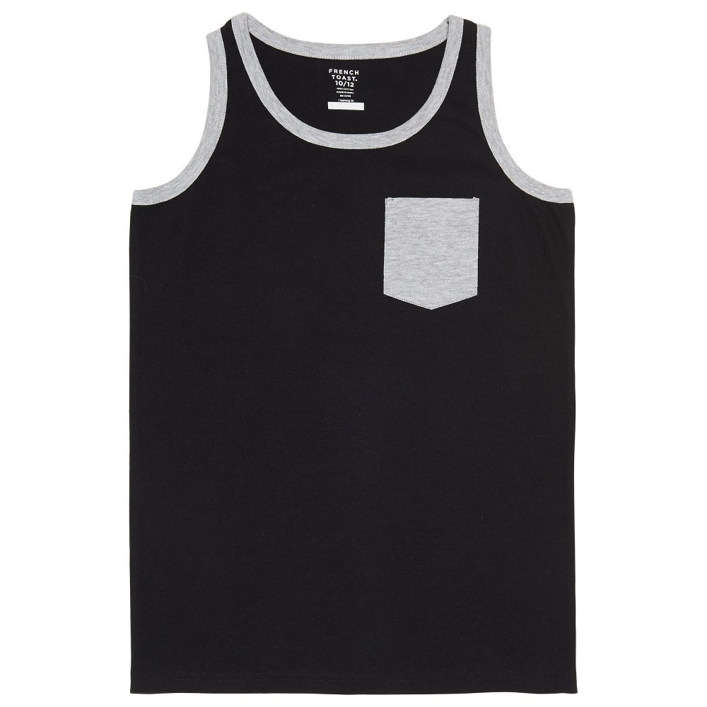 French Toast Men's Pocket Tank LA3577