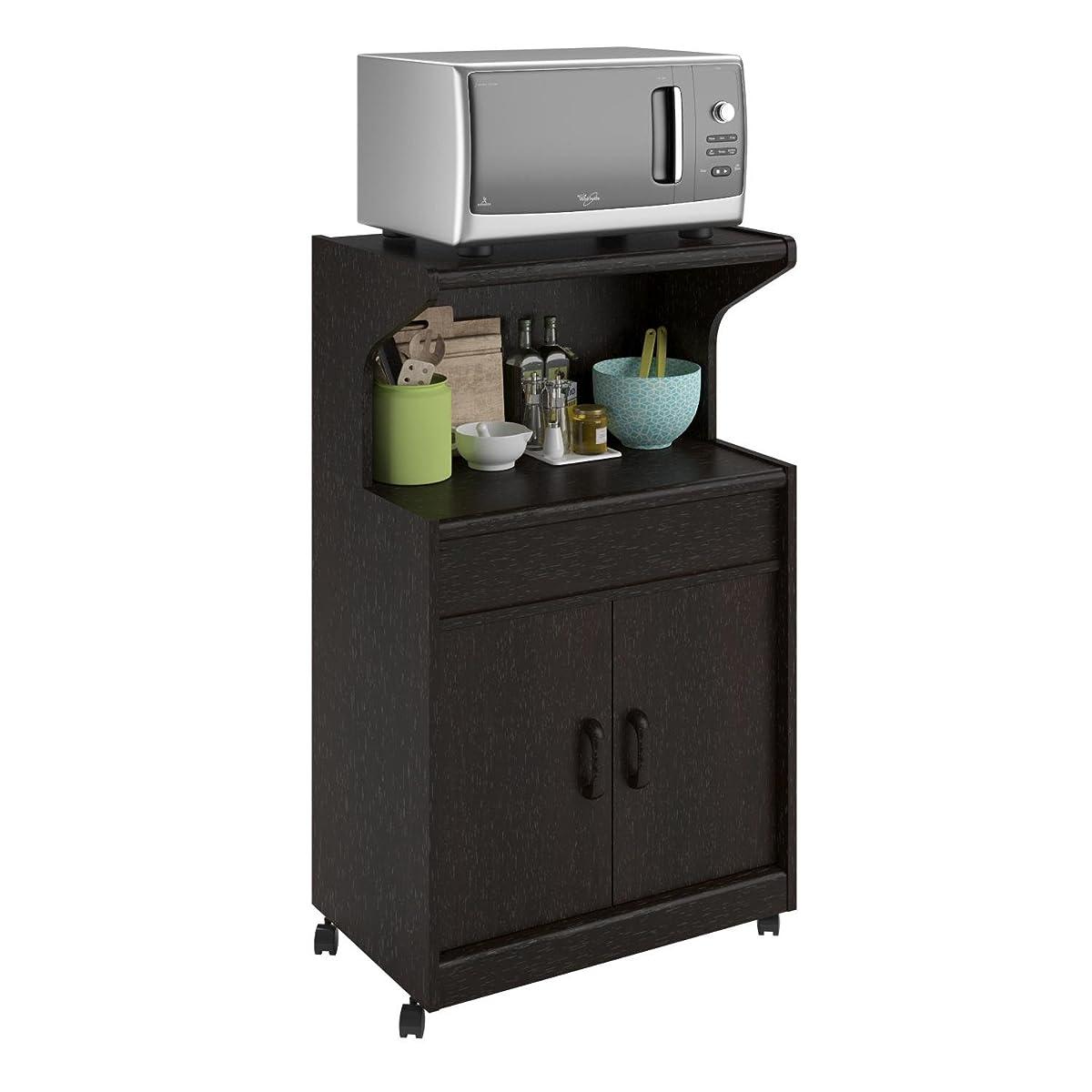 Ameriwood Home Reggie Microwave Cart with Shelf, Espresso