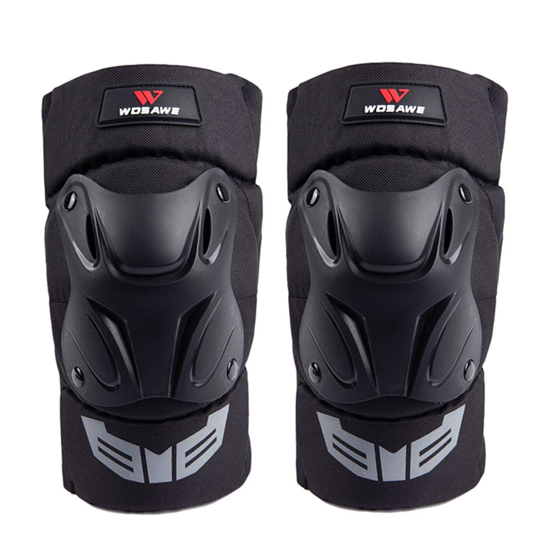 Cvthfyk Sport Schutzausrüstung Motorrad Knieschützer Erwachsene Atmungsaktiv Einstellbar Aramid Fiber Motocross MTB Schienbeinschoner Für Reiten Radfahren Skating (Farbe : Schwarz)