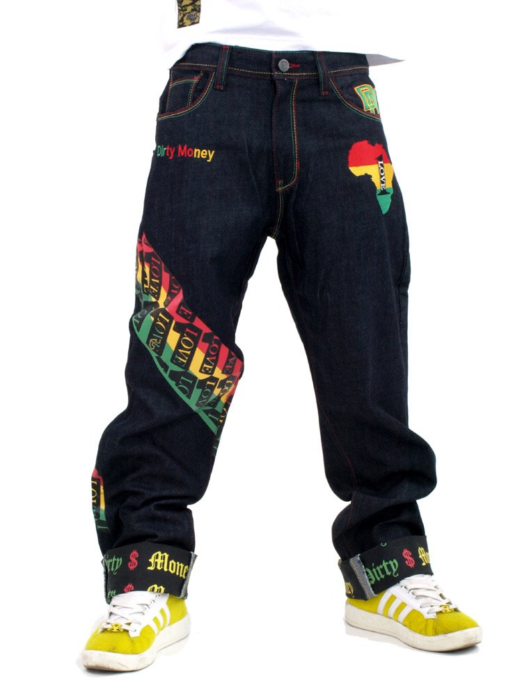 Dirty Money One Love Rasta Jeans DM # 00656