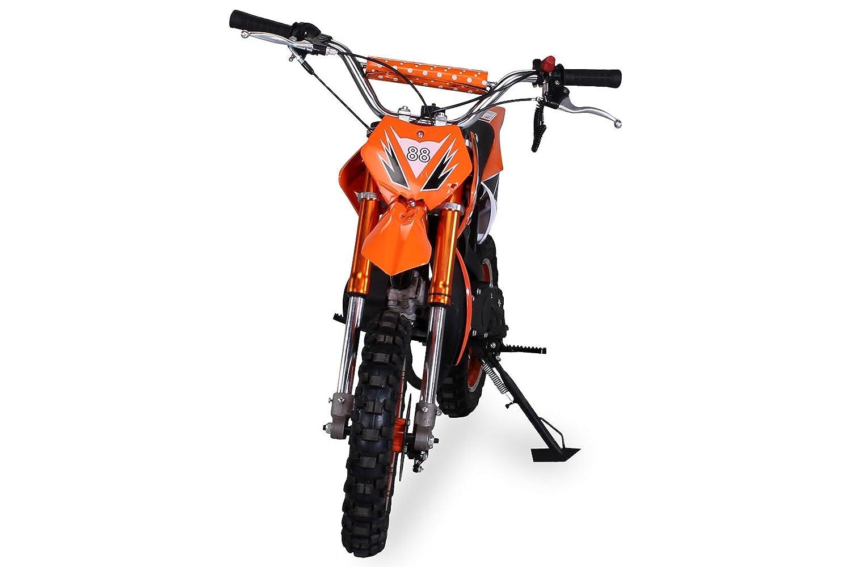 Kinder Mini Crossbike Delta 49 cc 2-takt Dirt Bike Dirtbike Pocket Cross Wei/ß