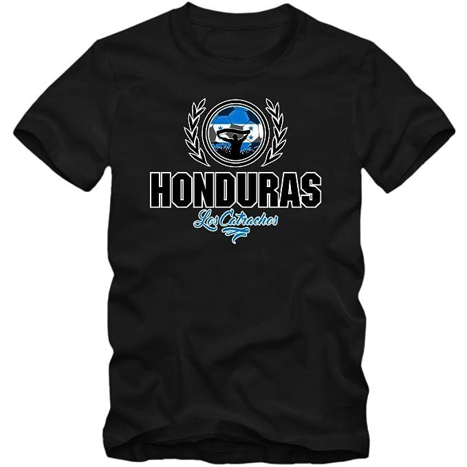 Shirt Happenz Fútbol Honduras V2 Camiseta | Hombre | Fútbol | Jersey | Los Catrachos | Equipo Nacional: Amazon.es: Ropa y accesorios
