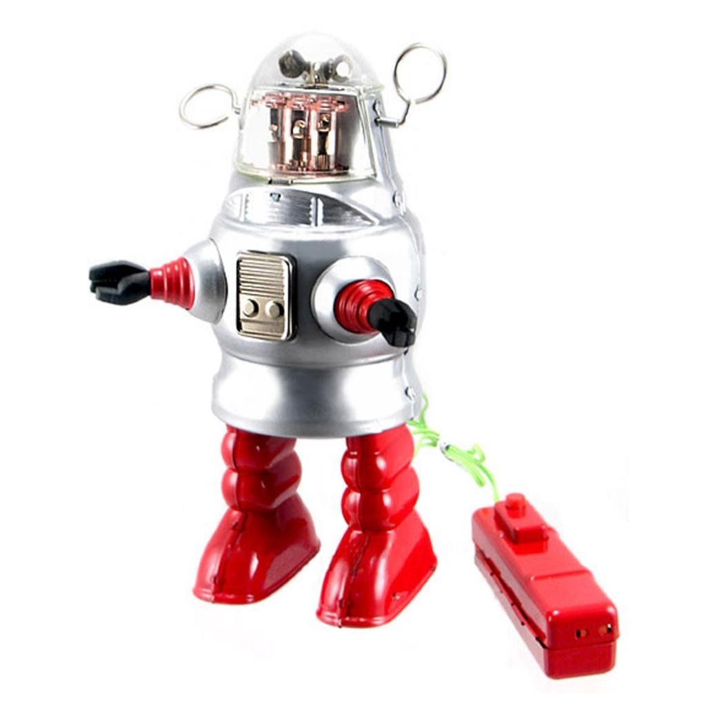 Off the Wall Toys Vintage Style Remote Control Piston Action Robot Tin Toy by Off the Wall Toys (Image #2)