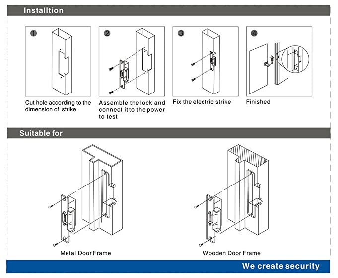 618NdjfQDZL._SX681_ uhppote electric strike fail secure no mode lock a part for access wiring diagram for an electric strike lock at crackthecode.co
