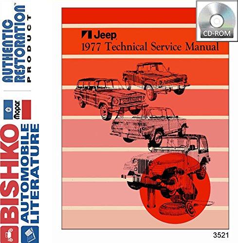 1977 Jeep Cj Wrangler Scrambler Shop Service Repair Manual CD Engine Electrical
