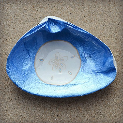 Sand-Dollar-Clam-Shell-Dish-Spoon-Rest-Soap-Dish-Jewelry-Holder-Catch-all-Cranberry-Collective