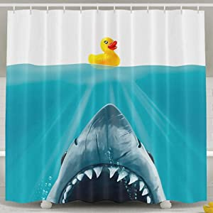 Jagfhhs Save Ducky Custom Shower Curtain Decoration 72 x 72 in