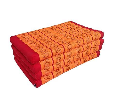 Colchón plegable para yoga de ceiba tradicional tailandés masaje relajación o - extra largo tamaño 200 x 80 cm: Amazon.es: Hogar