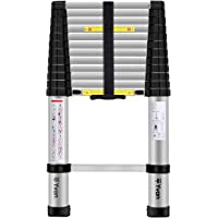 Yvan 12.5ft One Button Retraction Telescopic Extension Step Ladder