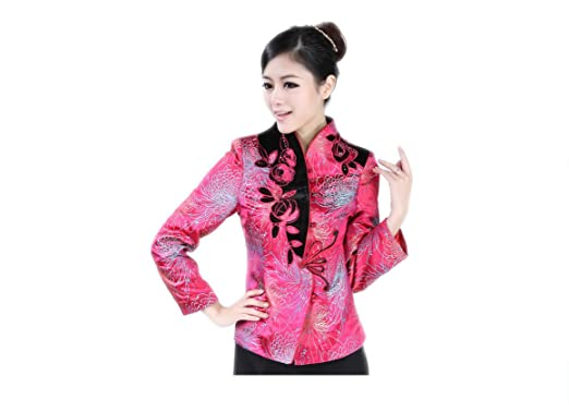 Women's Clothing Active Vintage Chinese Women Party Clothes Traditional Tang Tops Red Elegant Lace Shirt Classic Three Quarter Sleeve Female Blouse