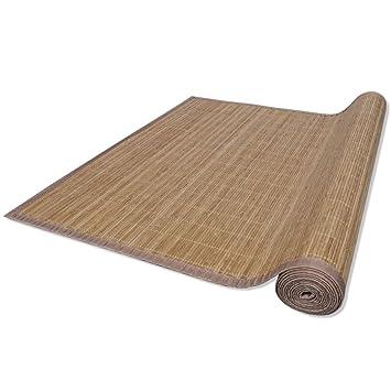vidaXL Tapis en bambou brun à latte Rectangulaire 200 x 300 cm ...