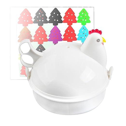 Amazon.com: jree Ceniza Cocedor de huevos para microondas ...
