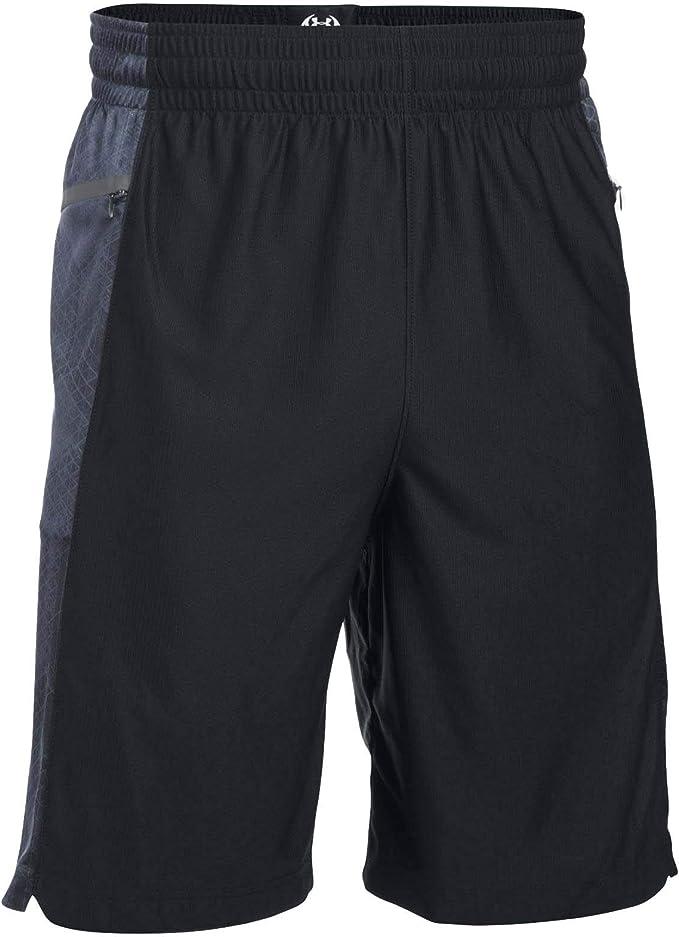 Under Armour Mens Select Pocket Pass Shorts, Black/Black, Large ...