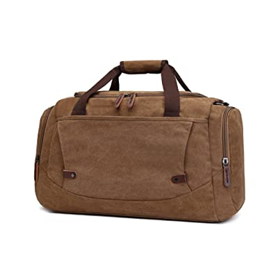 Canvas Tote Travel Duffle Bag for Short Trip Weekend Overnight, Business Trip Carry-on Duffel Luggage Bag