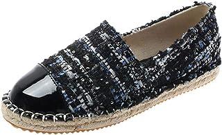 YOPAIYA Mujer Zapatos de Lona Zapatos Planos Casual Primavera otoño Retro Transpirable Suave Antideslizante Solo Zapatos Salvajes